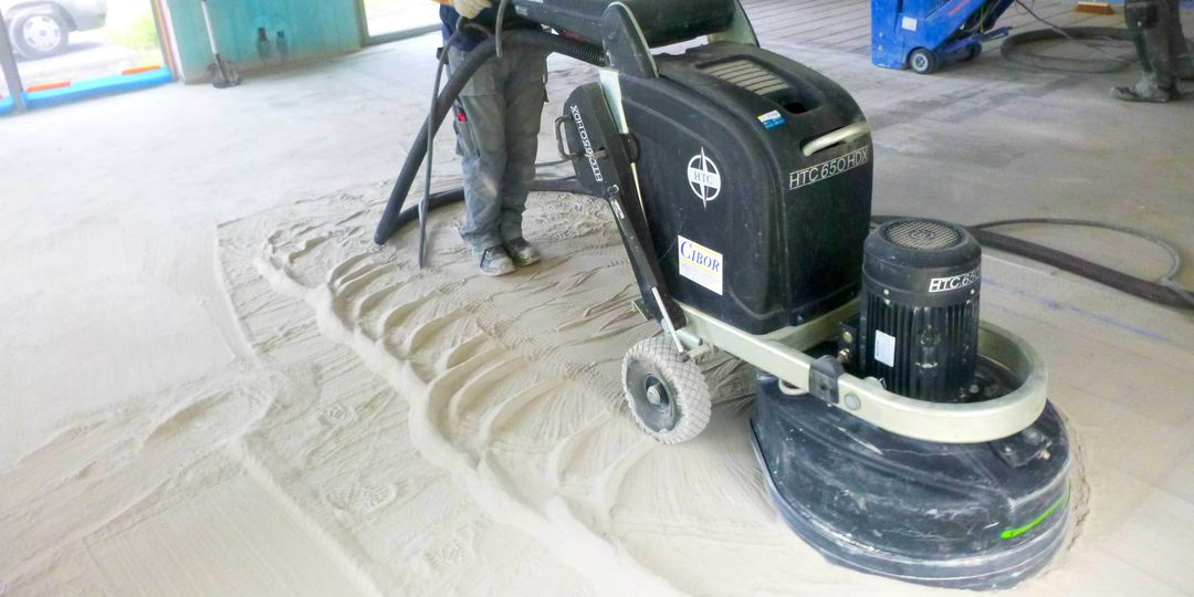 Broušení anhydritových podlah